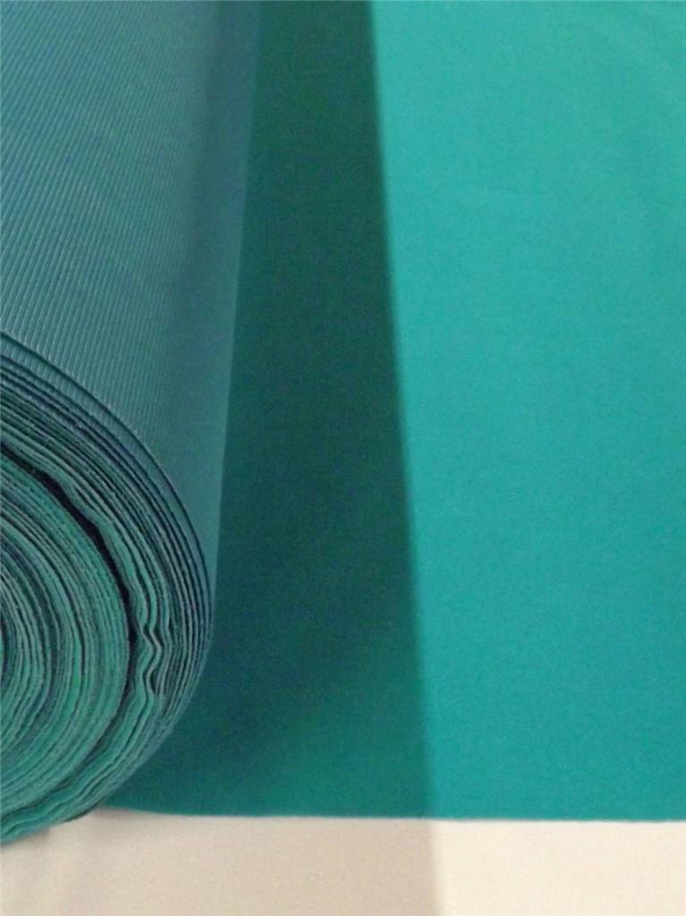 Turquoise Flocked Velvet Fabric Upholstery Drapery