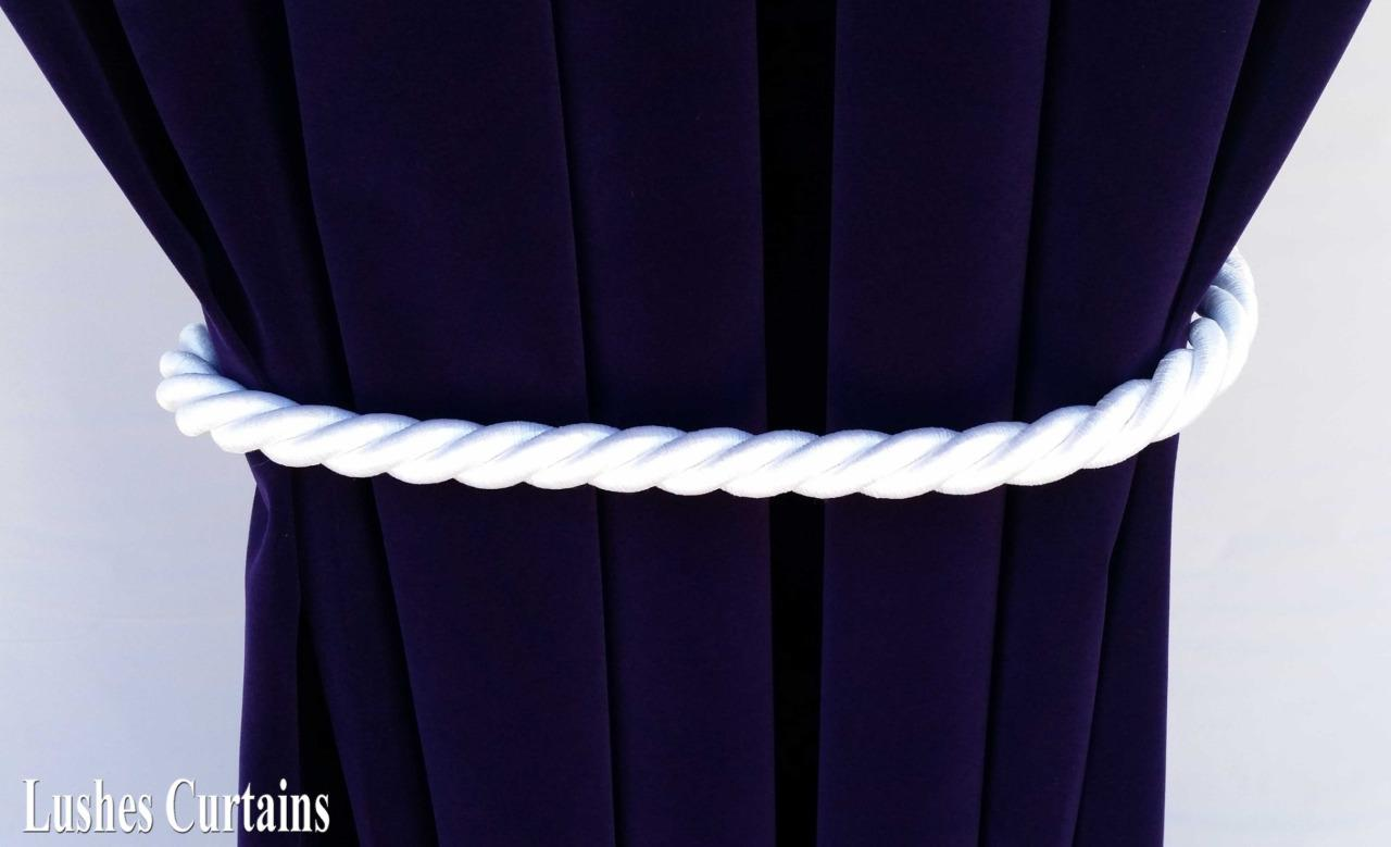 Large White Window Decor Curtain Drape 36 Quot Long Thick Rope