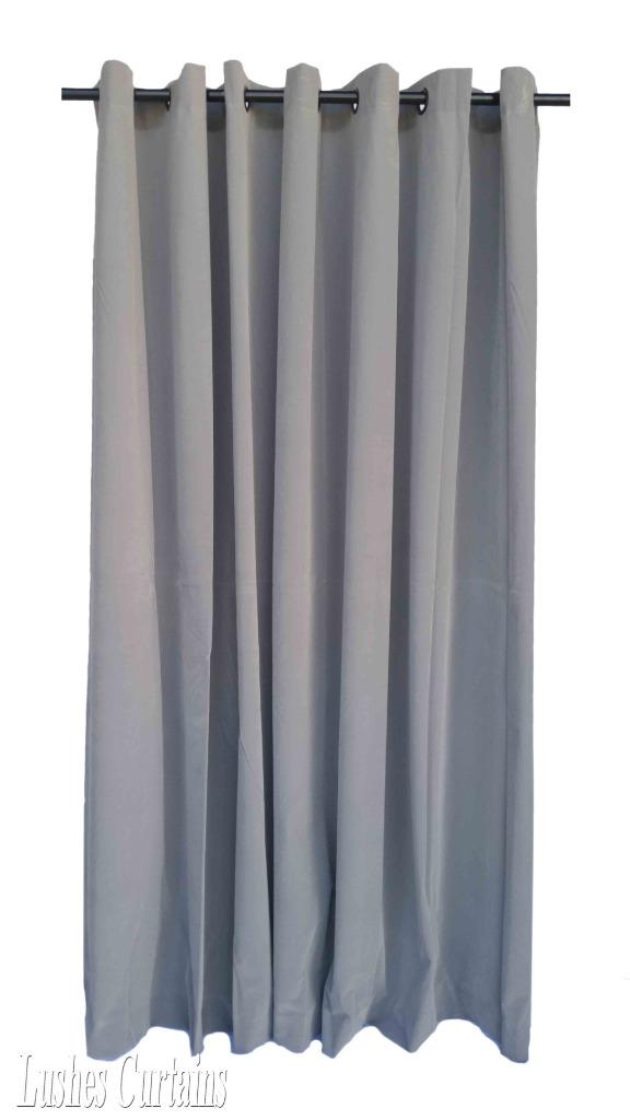 gray 120 inch long velvet curtain panel w ring grommet top eyelets window drapes. Black Bedroom Furniture Sets. Home Design Ideas