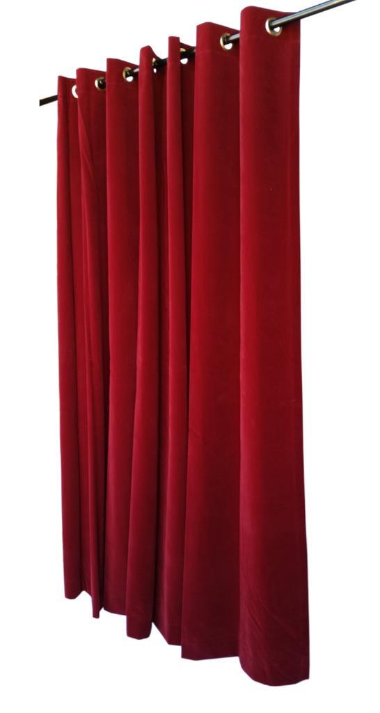 Burgundy 72 Quot Long Velvet Curtain Panel W Metal Grommet Top