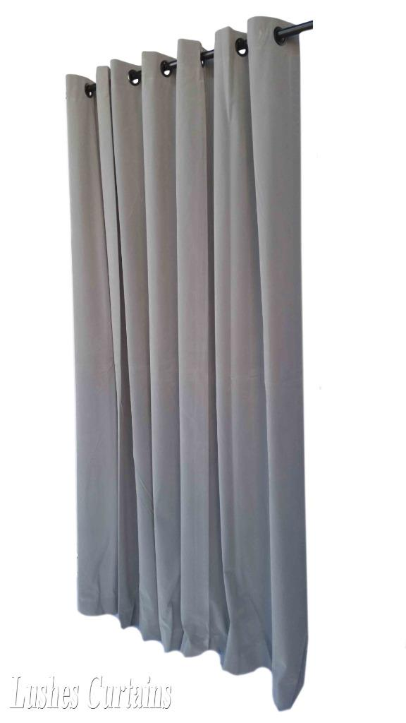 gray 96 long velvet curtain panel with ring grommet top eyelets window drapery ebay. Black Bedroom Furniture Sets. Home Design Ideas