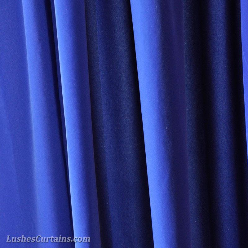 Royal Blue 144 Inch Long Velvet Curtain Panel W Grommet