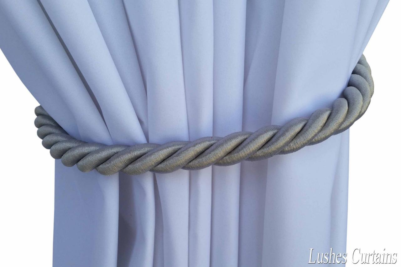 Silver Window Decor Curtain Drapery 36 Quot Long Thick Rope