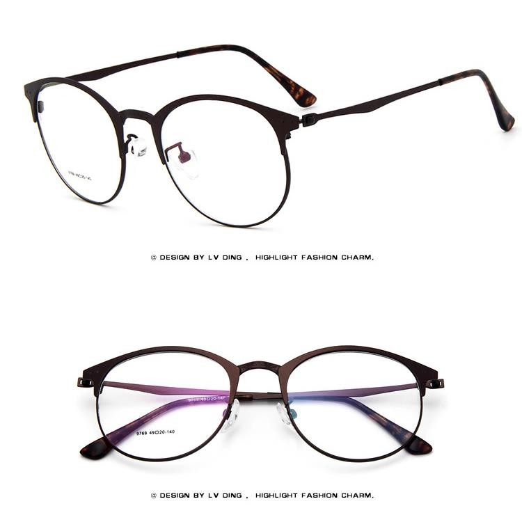 Thin Rim Round Metal Vintage Men Women Optical EYEGLASSES FRAMES ...