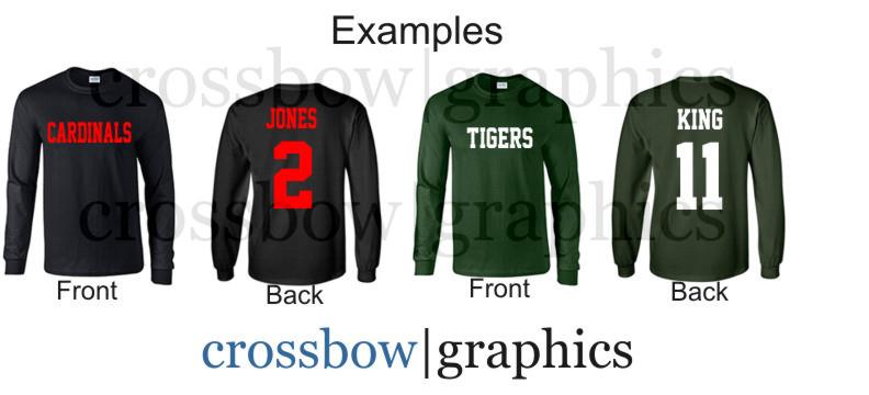 ARCHED TEXT Personalized custom name number soccer ball Infant raglan baseball 34 length sleeve t-shirt choose text for the front and back