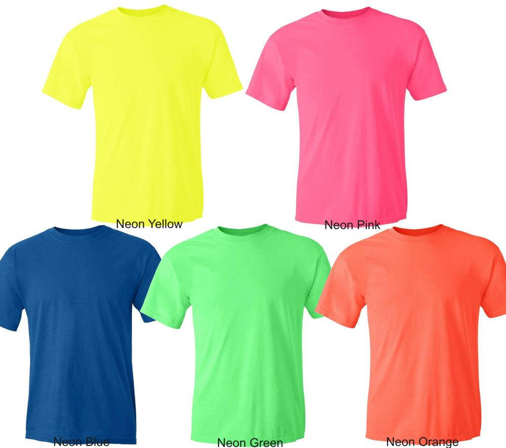 Wholesale gildan neon cotton t shirt flourscent color for Bulk neon t shirts