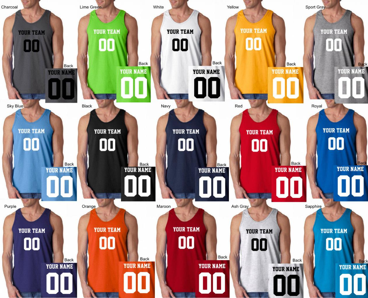 4c827a0c1 Details about CUSTOM Tank Top JERSEY Personalized ANY COLOR Name Number Team  Basketball S-3XL