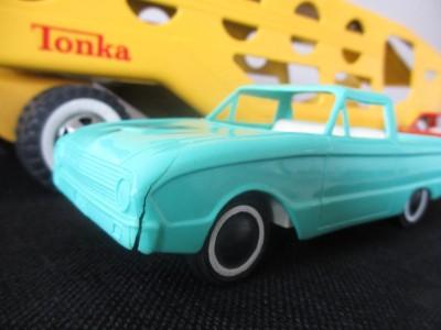 Vintage Tonka Toy Car Carrier Transporter Toy Truck