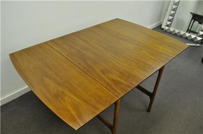 Vtg Mid Century Modern Walnut Extension Drop Leaf Dining Table McCobb Danish  Sty