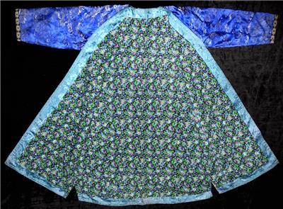 Vintage Duzzling Uzbek Silk Silver Brocade Robe Chapan From Samarkand A10932 Silk Antiques