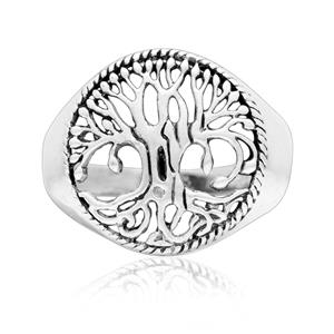 Yggdrasil Viking World Tree ring 925 Sterling Silver jewelry Pagan Family Tree of Life Woodland nordic Rings Norse Tree Branch Celtic Nature
