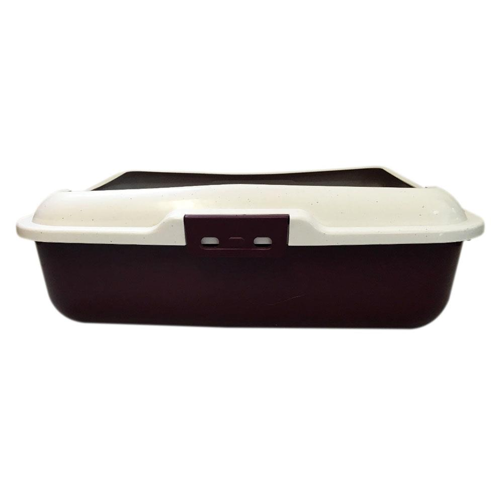 Large Cat Loo Litter Tray Pan Removable Rim - Maroon