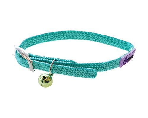 Cattitude Stretchy Nylon Cat Kitten Dog Puppy Collar adjustable - Pale Green