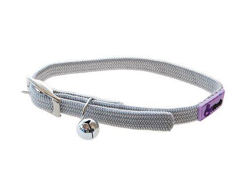 Cattitude Stretchy Nylon Cat Kitten Dog Puppy Collar adjustable - Pale Grey