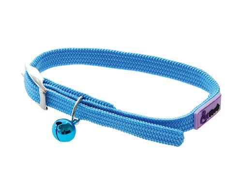 Cattitude Stretchy Nylon Cat Kitten Dog Puppy Collar adjustable - Pale Blue