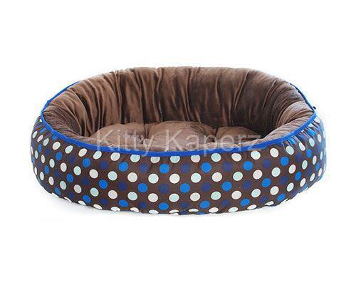 Barkley & Bella Reversible Cozy Comfy Kitty Bed - Choc Spots