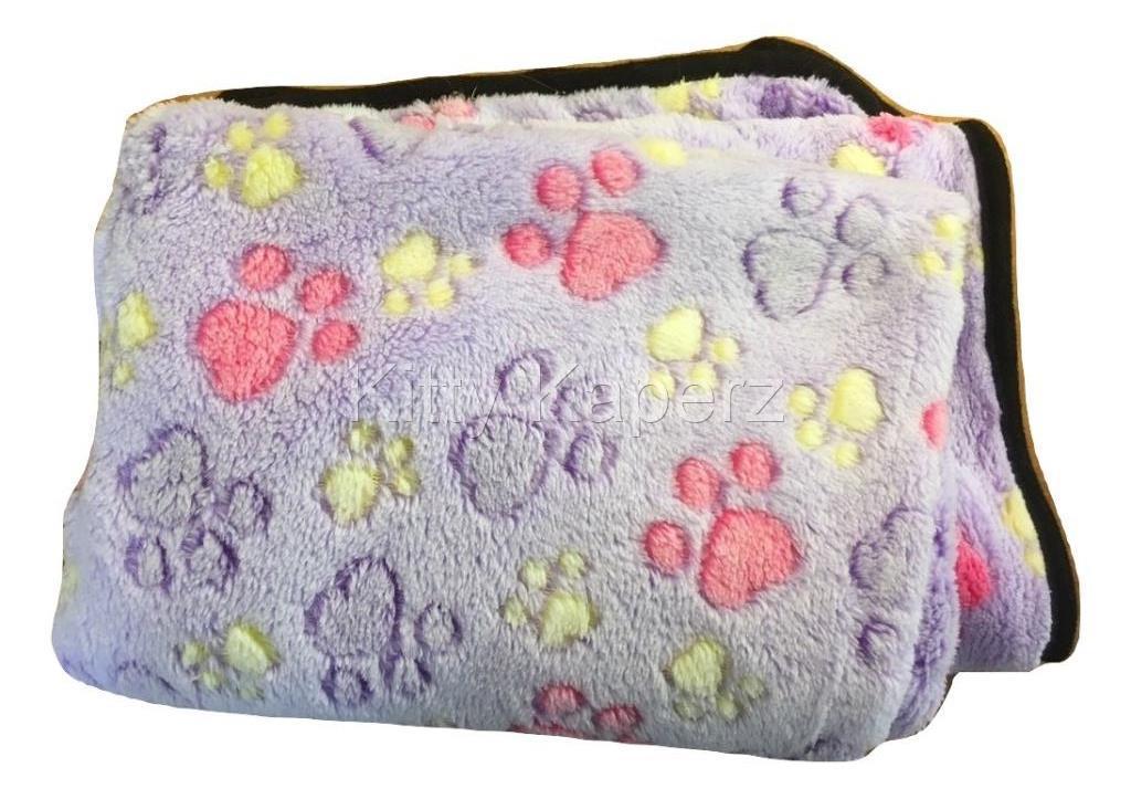 Soft Fleece Warm Cozy Cat Kitten Pet Blanket Mat - Purple