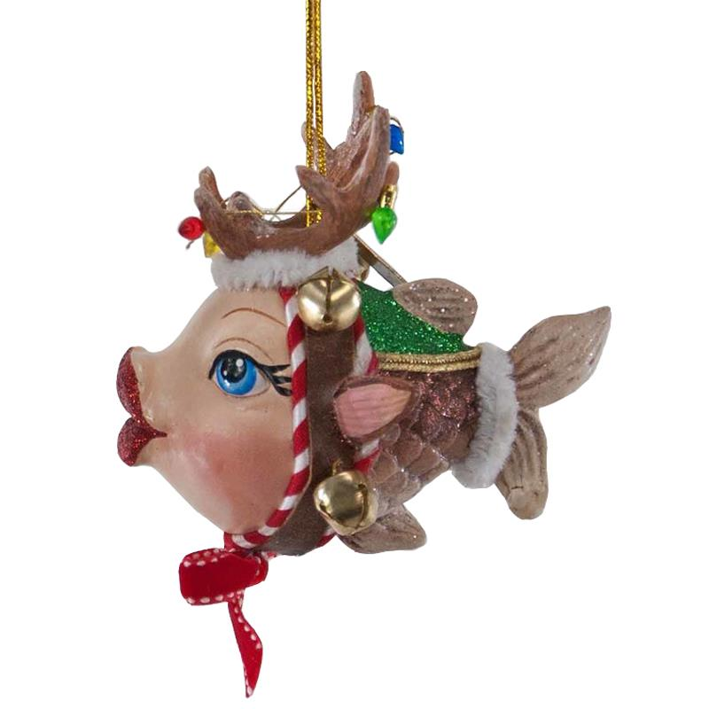 picture 4 of 4 - Fish Christmas Ornaments