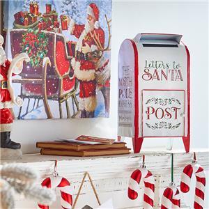 Mail On Christmas Eve 2019.Dettagli Su New 2019 Raz 16 5 Metal Letters To Santa Mail Box Christmas Figure 3912385