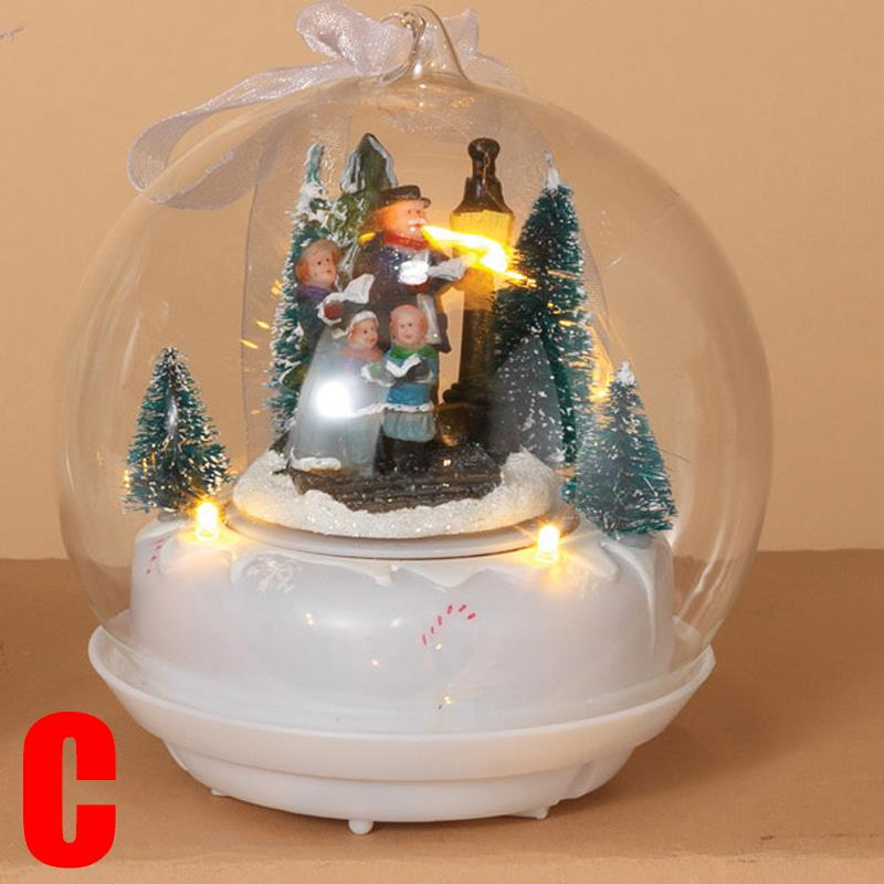 """Lighted 8 Song Musical Holiday Christmas Carolers Choir: NEW 5"""" Lighted Animated Musical Christmas Globes Gifts"""