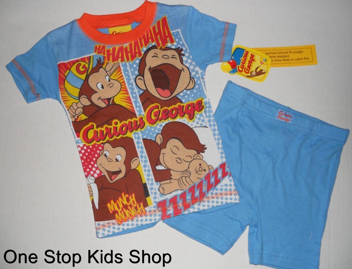 Curious George Toddler Boys 2t 3t 4t Pjs Set Pajamas Shirt
