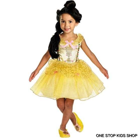 Halloween Child Costume Princess Dressup Set Disney: BELLE Ballerina Girls 12 18 Mo 2T Dress UP HALLOWEEN