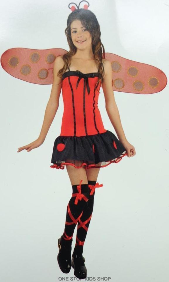 Image is loading LADYBUG-Girls-8-10-12-Dress-Up-HALLOWEEN-  sc 1 st  eBay & LADYBUG Girls 8 10 12 Dress Up HALLOWEEN COSTUME Lady Bug   eBay