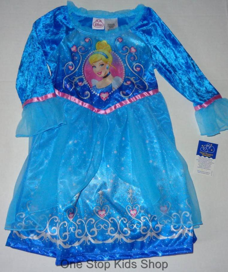 Cinderella Princess Character Dress Child 3t 4t 5 6 7: CINDERELLA Or ARIEL Girls 24 M 2T 3T 4T 5T Pajamas
