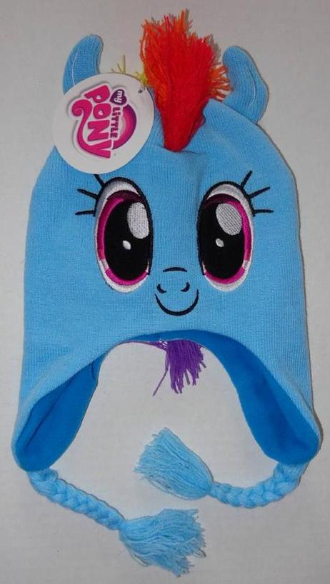 RAINBOW DASH Girls WINTER HAT Cap Beanie MLP My Little Pony  8c27bc39830