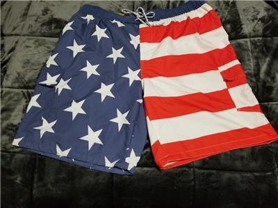 b531db19de FOUNDRY MENS SWIM TRUNKS SHORTS AMERICAN FLAG SIZES 2XL 3XL 4XL 5XL 6XL NWT