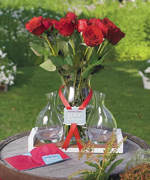 Candlelight Wedding Ceremony: Personalized Custom Red Rose Unique Unity Sand Wedding