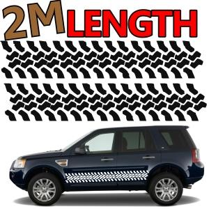 Badges, Decals & Emblems 2 X TYRE TRACKS LANDROVER 4X4