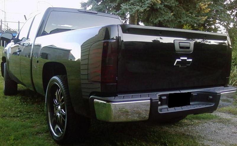 07 13 Chevy Silverado Smoke Tail Light Precut Tint Cover