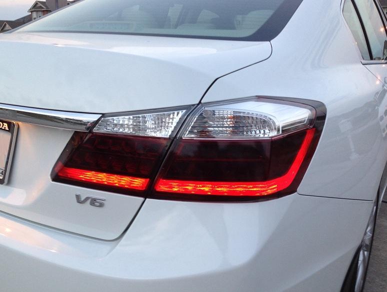 precut vinyl tint smoke overlays wcutout    accord sedan dr tail light ebay