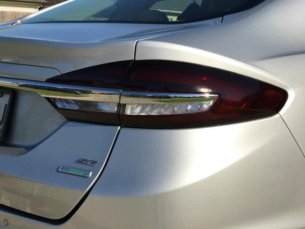 Details About 2017 2018 Ford Fusion Tail Light W White Cutout Precut Tint Smoked Overlays
