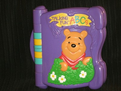Adorable Winnie The Pooh Electronic Talk ABC's Fun Book Wonderful Teaching Tool