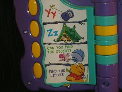 Adorable Winnie The Pooh Electronic Talk ABC's Fun Book Wonderful Teaching Tool