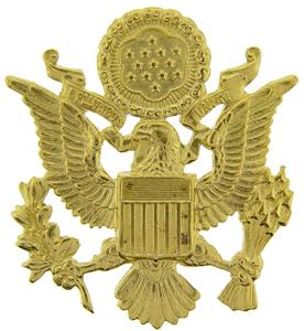 """US Army Officer Cap Eagle Badge Insignia Gold 2-1/2"""" Lapel ..."""