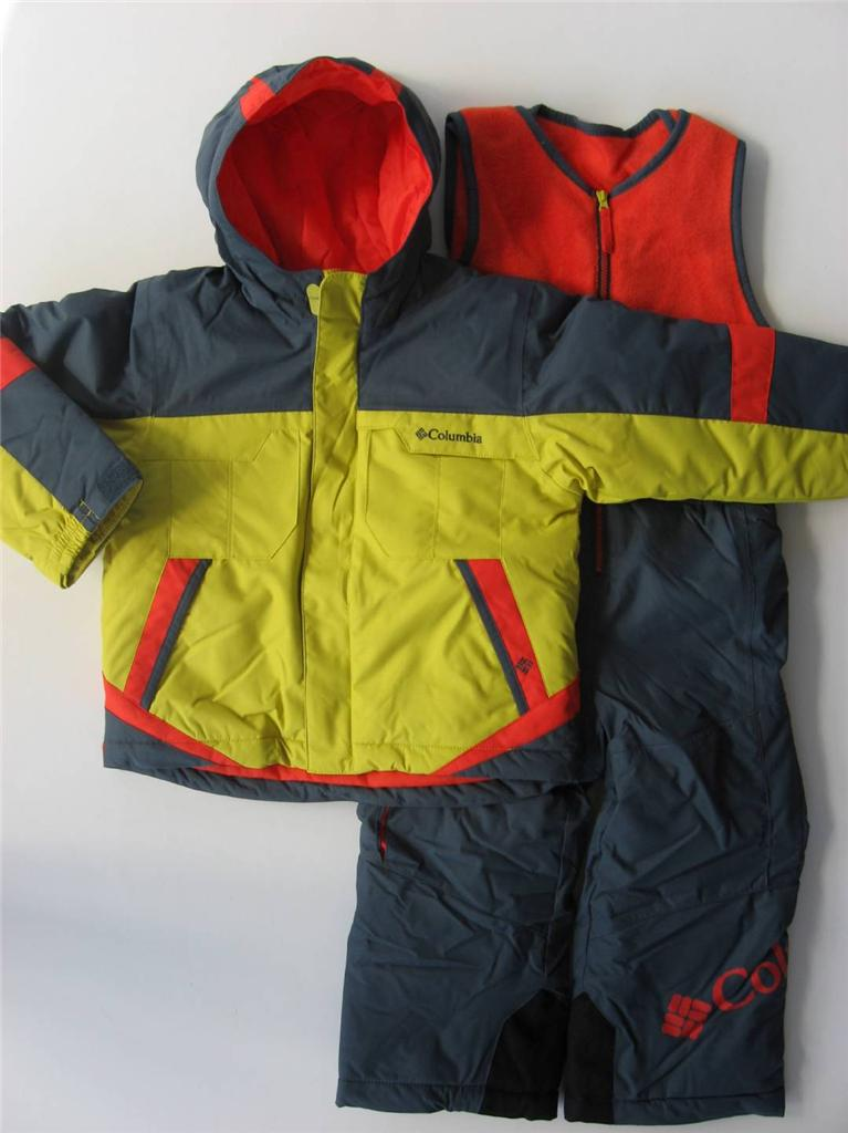 Nwt Columbia Boys 2t 3t 4t Buga Snowsuit Ski Outfit Bibs