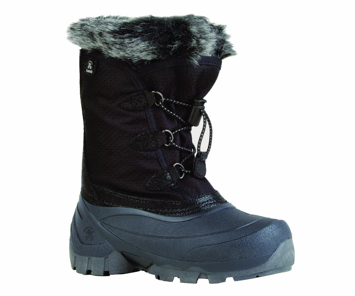New Kamik Youth Girls Powdery Waterproof Snow Boots Sizes