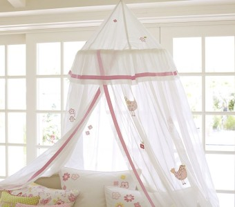 Pottery Barn Kids New Bird And Flower Applique Canopy