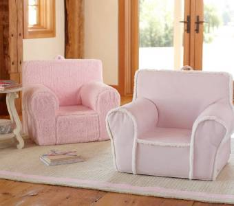 pottery barn kids new pink sherpa my first anywhere chair slipcover only ebay. Black Bedroom Furniture Sets. Home Design Ideas