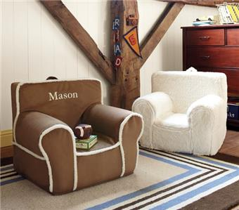 Merveilleux Pottery Barn Kids New Natural Suede With Sherpa Trim Anywhere Chair  Slipcover ***Personalized With The Names: Jonah; Wyatt; Hudson U0026 Owen***