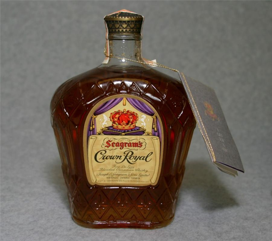 Vintage crown royal whiskey pity, that