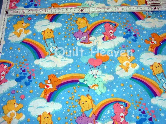 patchwork stoff care bears regenbogen gl cksb rchis 50 ebay. Black Bedroom Furniture Sets. Home Design Ideas
