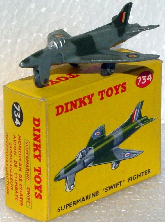 Dinky 734 - Supermarine Swift base initials (Very Near Mint) C9.5 box