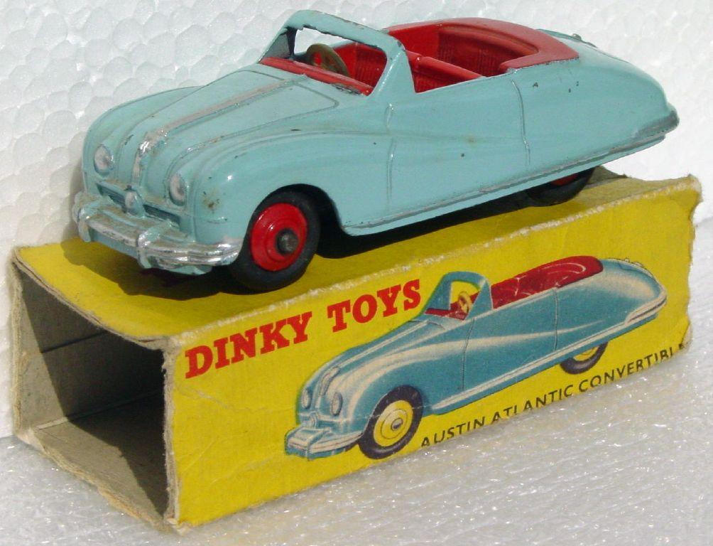 Dinky 106 - Austin Atlantic light Blue Red interior box no flaps