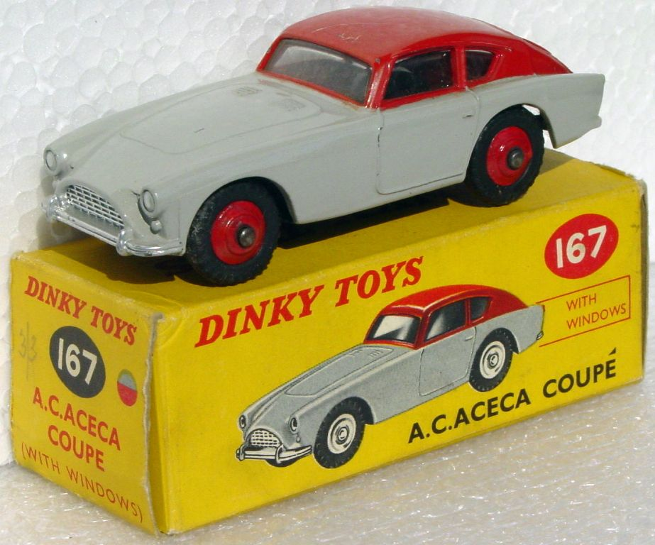 Dinky 167 - AC Aceca Grey/Red roof scratches (Very Near Mint) C9- box