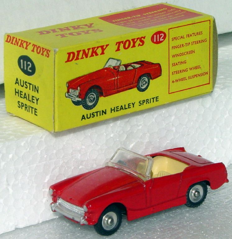 Dinky 112 - Austin Healey Sprite Red (Very Near Mint) C9.5+ box