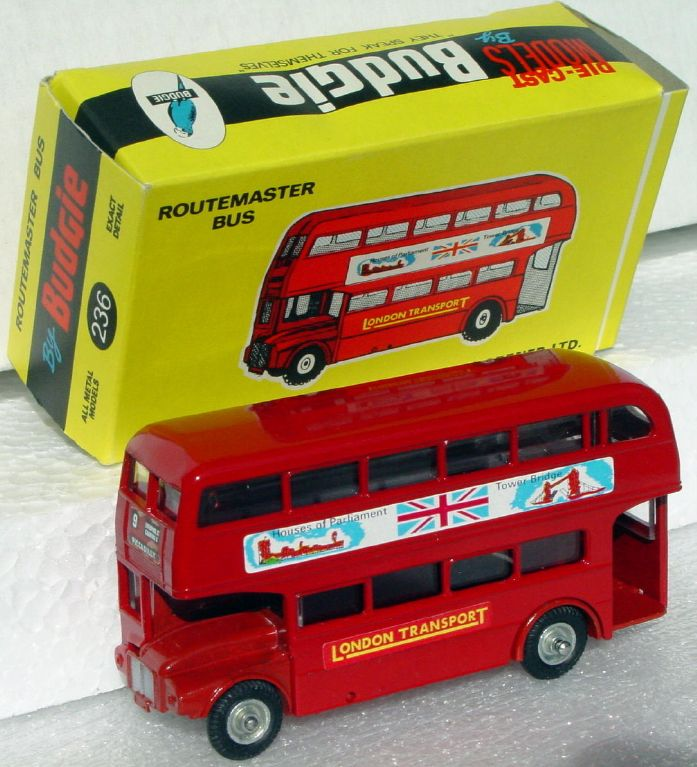 43 - BUDGIE 236 Routemaster Bus Red Parliament C9-